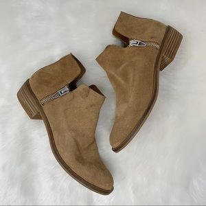 DOLCE VITA suede ankle boots silver zippers